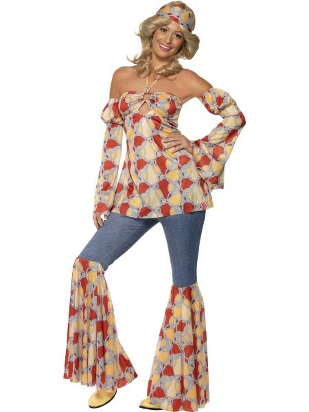 253f95a17472 Střelený kostým Hippi 70´ je ideální volbou na retro party